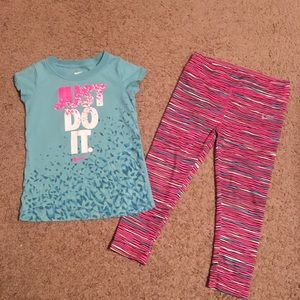 Nike 4T girls outfit.